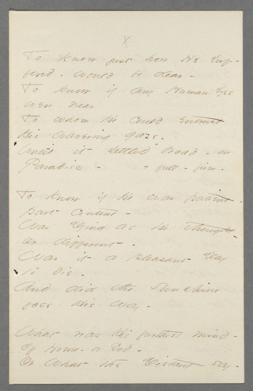 Emily Dickinson handwriting To know just how