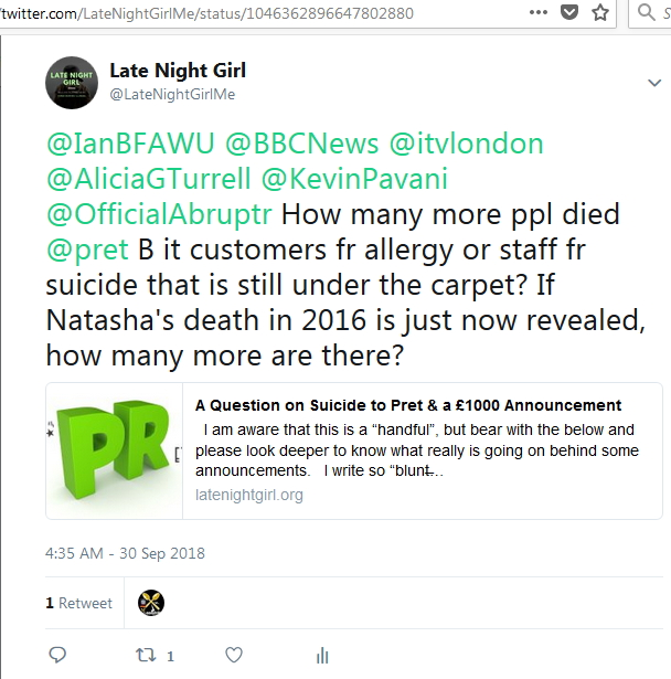 2018-09-30 My Tweet on death suicide