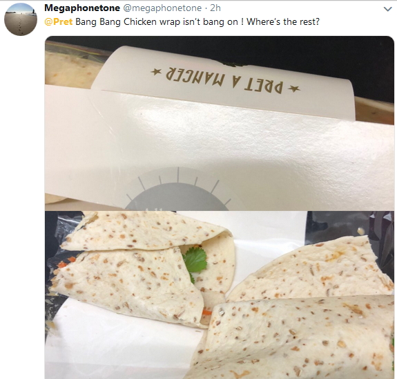 2019-01-25 bang chicken wrap no chicken