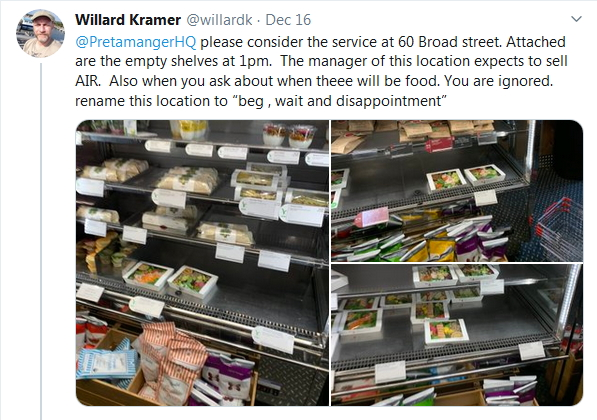 2019-12-16 Quest for mre food = waste