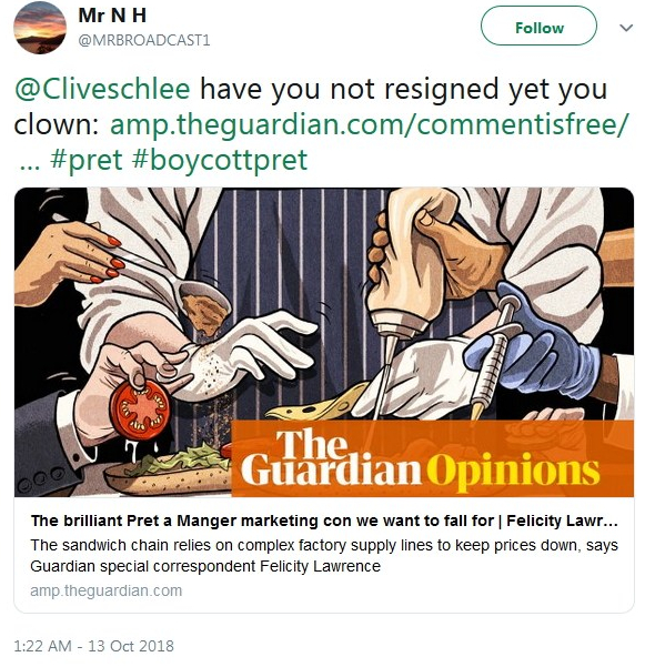2018-10-13 Clive Schlee Clown Tweet