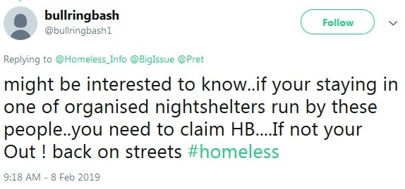 2019-02-09 Response to former homeless tweet