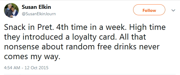 2015 Free nonsense loyalty card