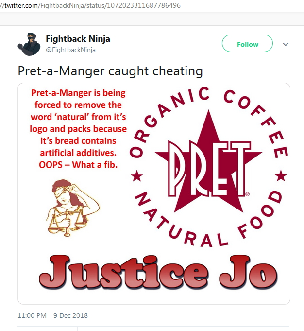 2018-12-10 Pret froced to remove Natural from sign