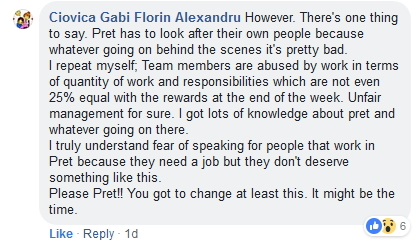 2019-02-08 Pret Staff Facebook Comment Complaint2