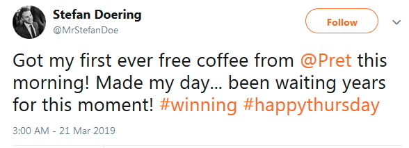 2019-03-21 Free coffee since years