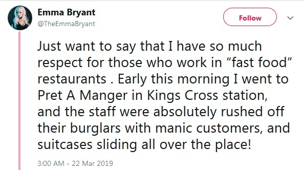 2019-03-22 Customer Noticing busyness Pret1