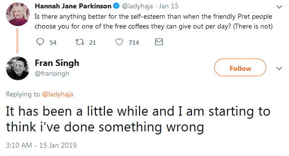 2019 No free coffee for a while