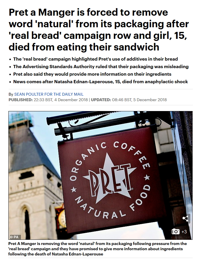 Pret to remove Natural