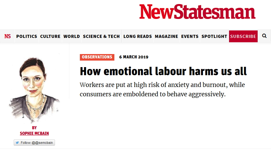 Emotional Labour Statesman article