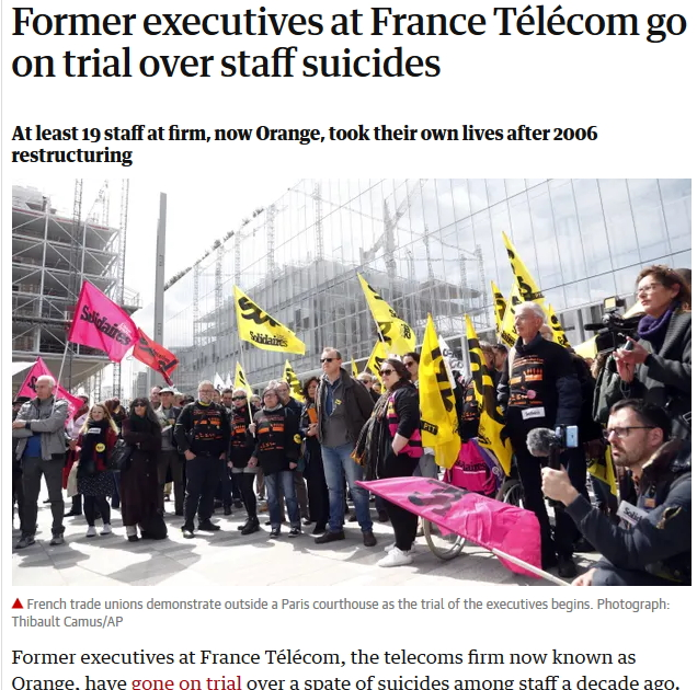 Guardian France Telekom Suicides
