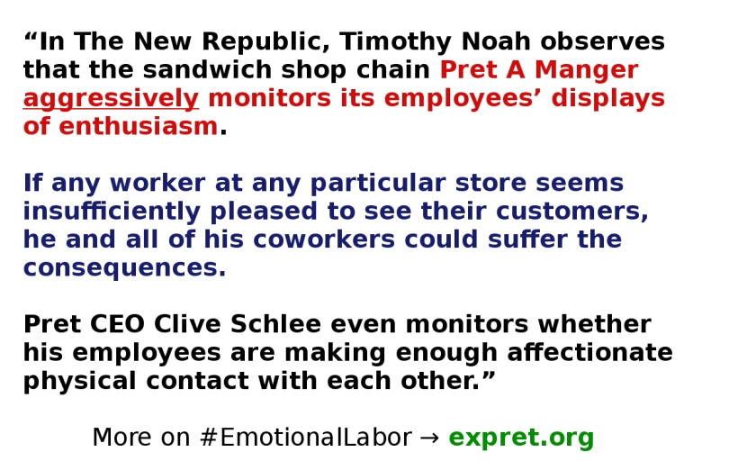 Timothy Noah Quote Emotional Labor