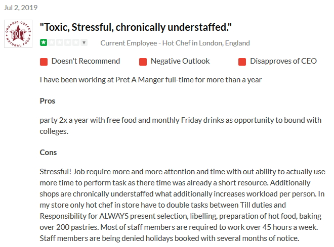 2019-07-02 Toxic chronically understaffed