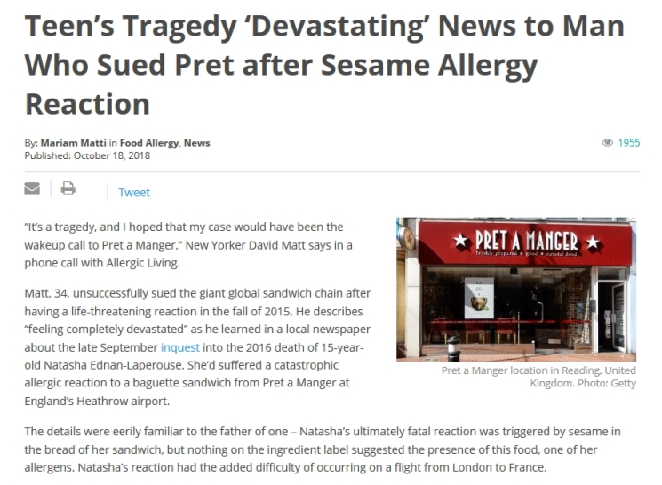 FoodAllergyNews