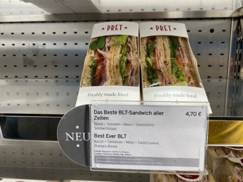 2020-01-25 @GillyBerlin Pret Berlin 2 Sandwiches behind sticker2